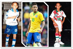 Neymar - now and then